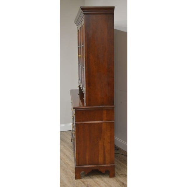 Councill Furniture Councill Craftsman Cherry Pennsylvania Style Dutch Cupboard For Sale - Image 4 of 13