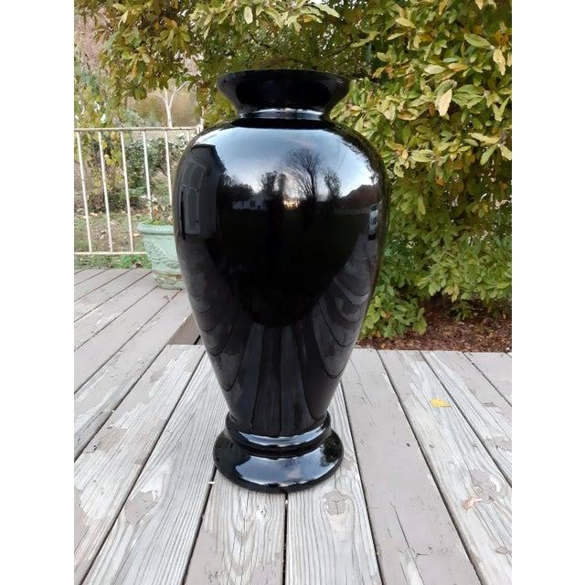 Black Vintage Pilgrim Masterwork Collection Black Art Glass Vase For Sale - Image 8 of 13