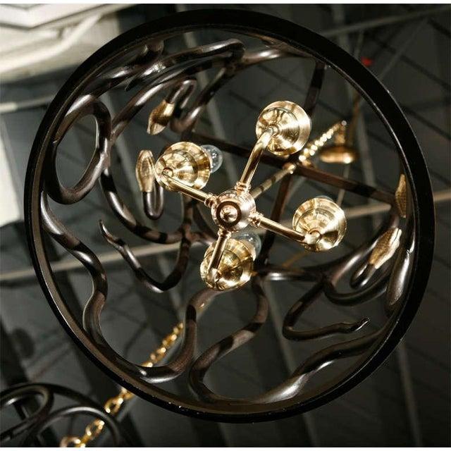 Metal Snake Lantern by Paul Marra For Sale - Image 7 of 7