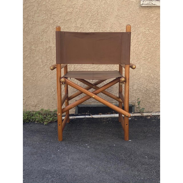 Vintage Set of 4 Leather Safari Chairs For Sale - Image 12 of 13
