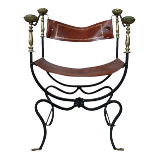 20th Century Italian Iron Campaign Chair For Sale