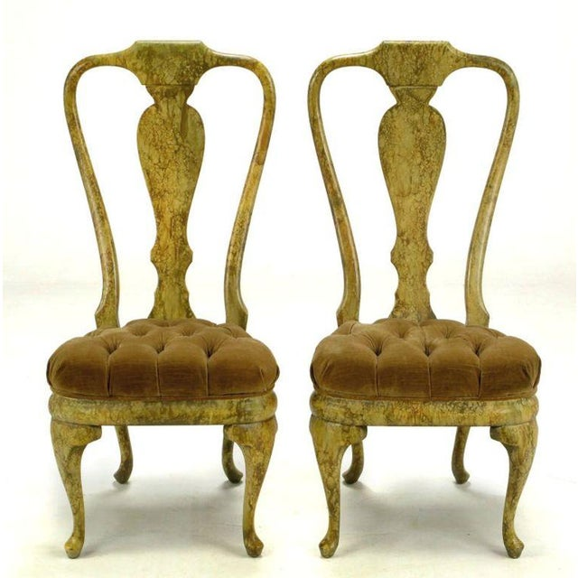 Four Phyllis Morris Oil-Drop Lacquered Queen Anne Chairs - Image 2 of 9