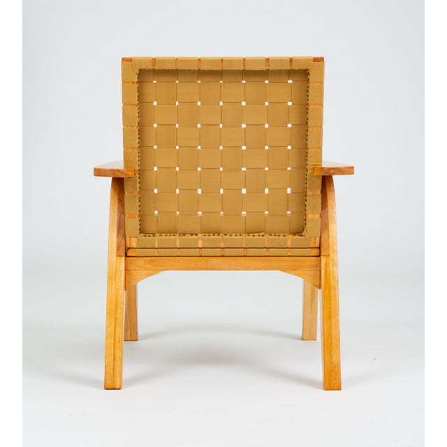 Bauhaus-Style Maple Lounge Chair With Nylon Webbed Seat For Sale In Los Angeles - Image 6 of 12