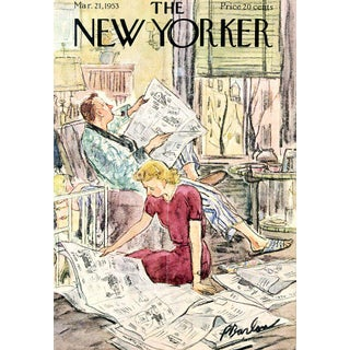 Vintage 1953 New Yorker Cover, March 21 (Perry Barlow), City Life For Sale