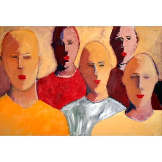 Tim Turner Five Figures Contemporary Painting For Sale