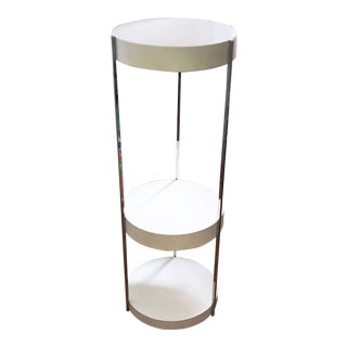 George Kovacs Mid-Century Modern Space-Age Atomic Tiered & Totally Tubular Floor Lamp and Shelf