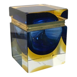 Mid 20th Century Mandruzzato Designed Murano Glass Box For Sale