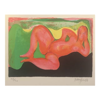 Female Nude Lithograph by Jeremy Gentilli 1960s For Sale