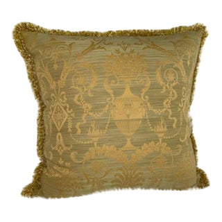 Old World Weavers Pillow With Decorative Houles Fringe For Sale