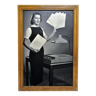 Framed 1956 Kodak Verifax Copier Ad I
