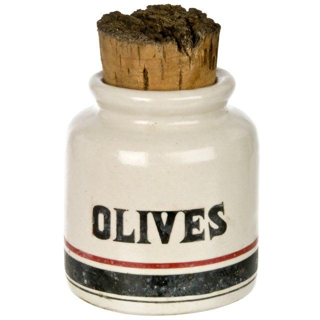 Vintage French Olive Crock - Image 1 of 3