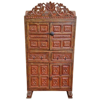 19th Century Spanish Colonial Armoire Armario Chest For Sale