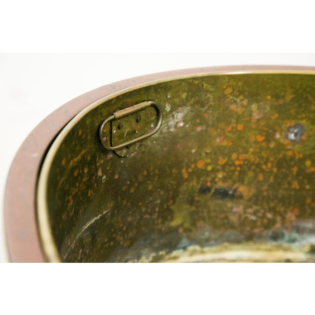 English George III Style Brass Bound Wine Cooler For Sale In West Palm - Image 6 of 12
