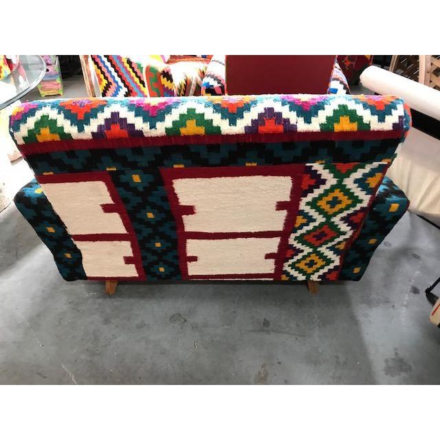 Boho Chic Handmade Turkish Kilim Sofa For Sale - Image 3 of 4