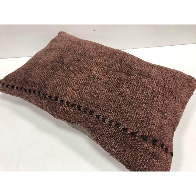 Boho Chic Vintage Turkish Handmade Decorative Bohemian Kilim Pillow For Sale - Image 3 of 6