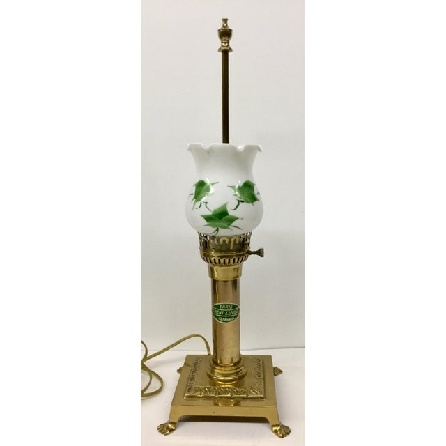 Vintage Paris Oriental Express Brass Table Lamp For Sale - Image 13 of 13