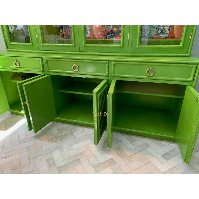 1970s Chinoiserie China Cabinet by Thomasville For Sale - Image 5 of 8