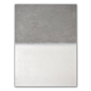 """""""Concrete No. 4 - White Field"""" Contemporary Minimalist Mixed-Media Painting 30"""" X 40"""" For Sale"""