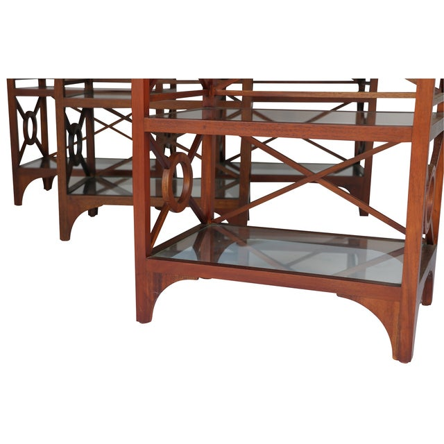 British Colonial Vintage Library Stand For Sale - Image 3 of 5