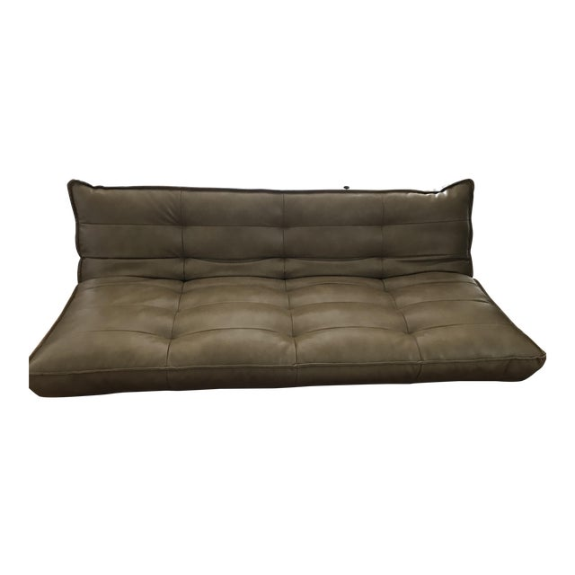 3c8d3852e Recycled Leather XL Sleeper Sofa-Urban Outfitters   Chairish