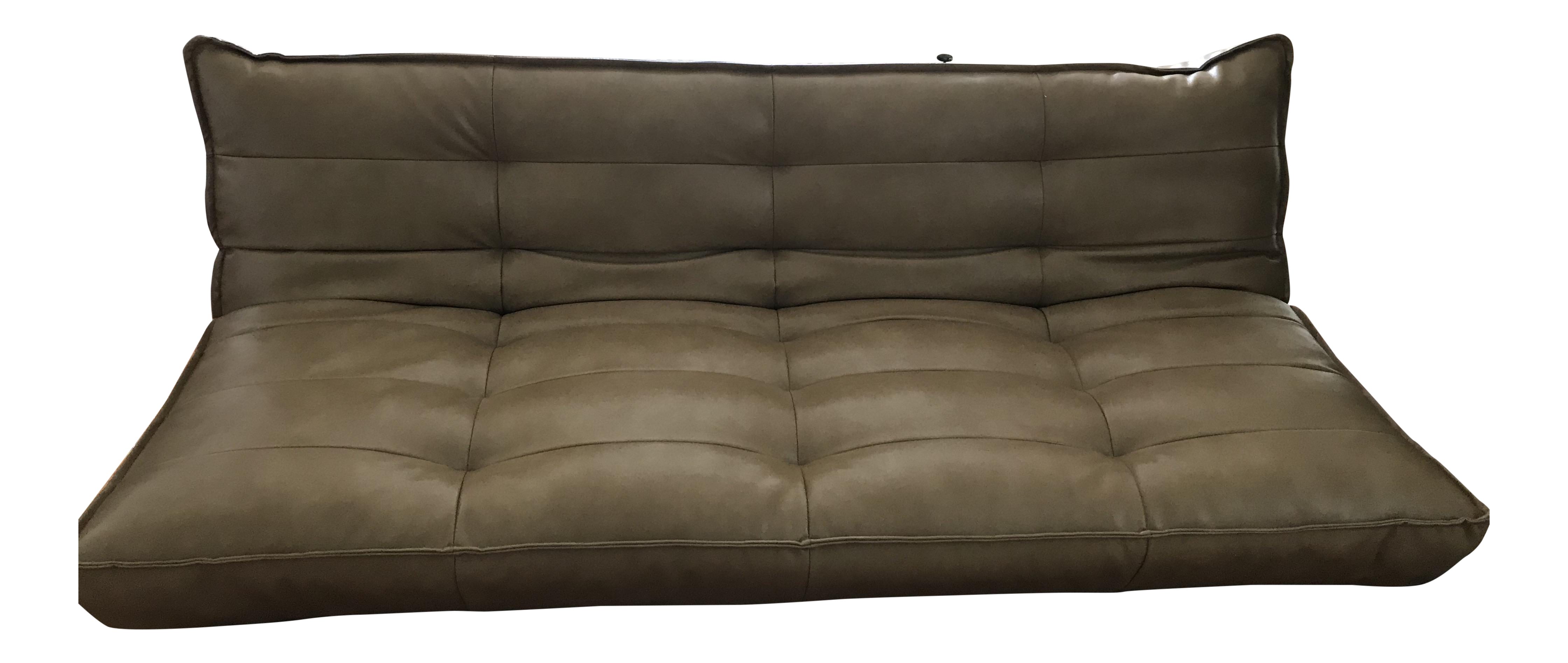 Recycled Leather XL Sleeper Sofa Urban Outfitters   Image 1 Of 2