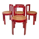 Image of Vintage Italian Dining Chairs in the Manner of Scarpa For Sale