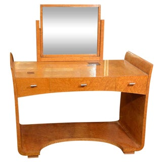 ART DECO VANITY TABLE WITH MIRROR BY EUGENE SCHOEN For Sale