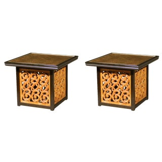 Spectacular Pair of Mediterranean Style End or Coffee Tables by Widdicomb For Sale