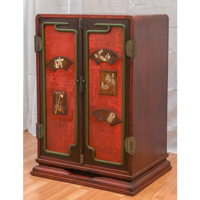 Asian Meiji Period Japanese Ten-Drawer Cabinet For Sale - Image 3 of 10
