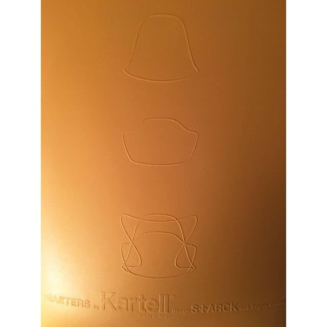 Plastic Kartell Mustard Yellow Masters Chairs - Set of 4 For Sale - Image 7 of 9
