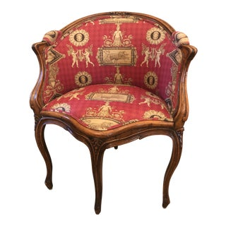 1920s Vintage French Corner Chair For Sale