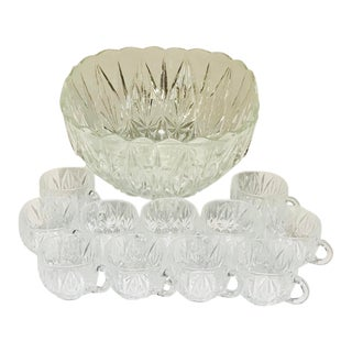 Punch/Pimms Bowl and Cups Set For Sale