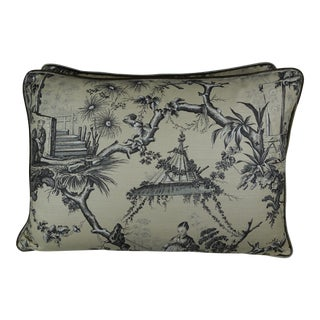 Brunschwig & Fils Printed Chinoiserie Pillows, Pair For Sale