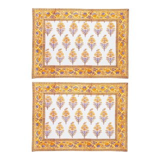 Juhi Flower Placemats Yellow - A Pair For Sale