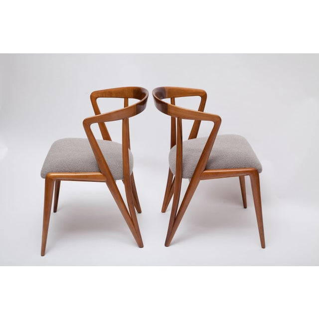 Mid-Century Modern Pair of Bertha Schaefer Walnut Armchairs for Singer & Sons For Sale - Image 3 of 10