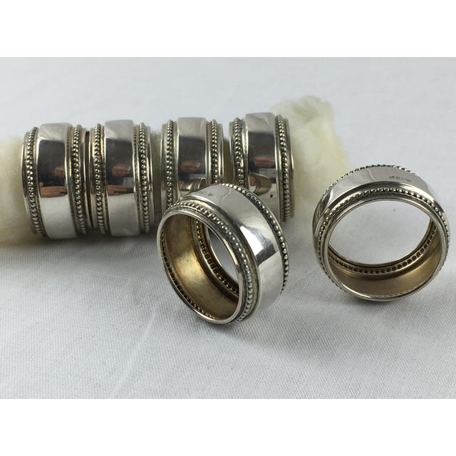Antique Silver Napkin Rings - Set of 6 - Image 5 of 7