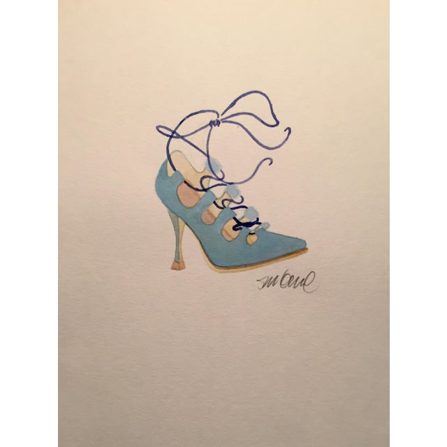 Powder Blue High Heel Watercolor - Image 1 of 2