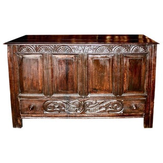 18th Century English Oak Coffer For Sale