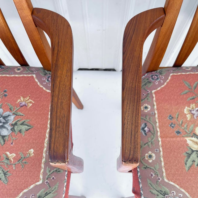 Vintage Modern Teak Arm Chairs- a Pair For Sale - Image 9 of 13