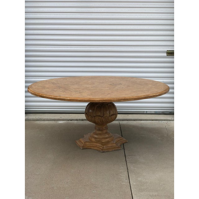 French 1950s French Country Dining Table With Decorative Base For Sale - Image 3 of 8