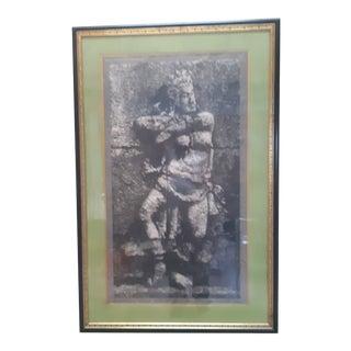 Vintage Bali Dancer Art Print Framed For Sale