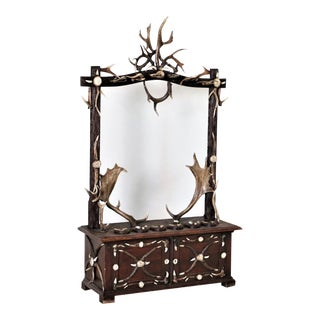 Antique Black Forest Antler Gun Rack From Austria For Sale