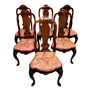 18th Century American Dutch Style Dining Chairs- Set of 6 For Sale