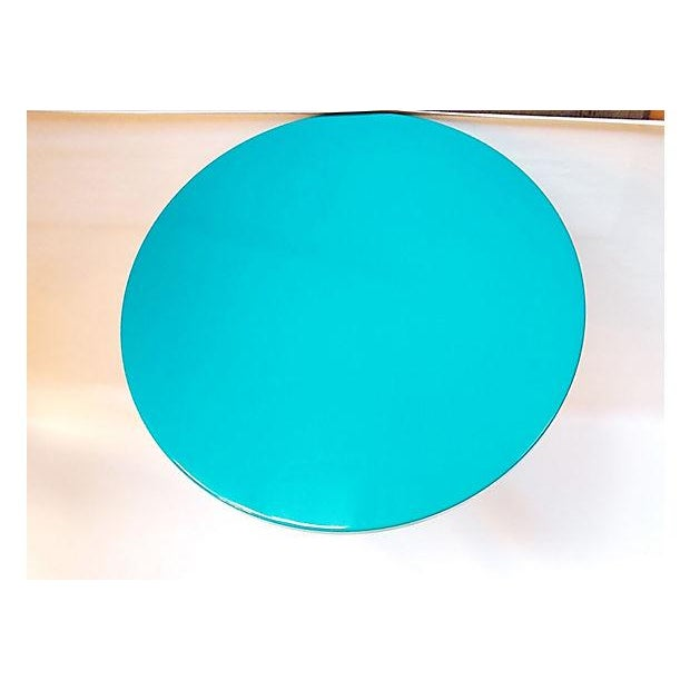 Teal Lacquer Bistro Table - Image 7 of 8
