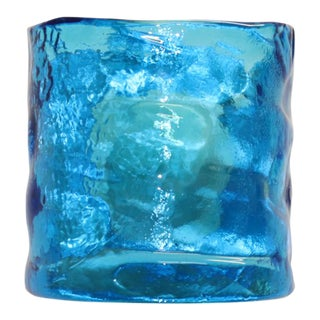 Blue ITRE Mid-Century Modern Murano Glass Wall Lamp For Sale