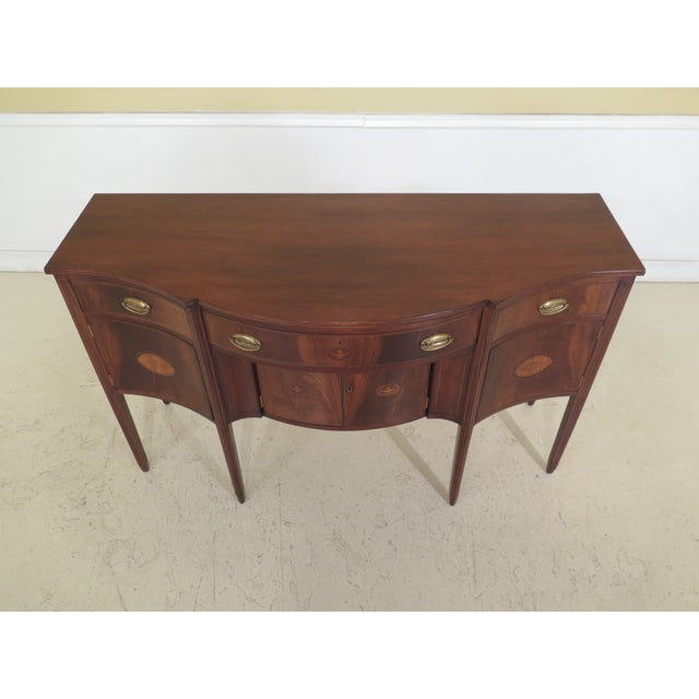 Biggs Mcfarland Inlaid Mahogany Federal Sideboard features High-Quality Construction, Solid Brass Hardware and Tall...