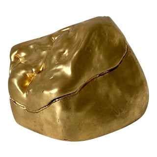 Gold Painted Ceramic Box For Sale