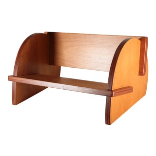 Art Moderne Jigsaw Maple Plywood Bookstand For Sale