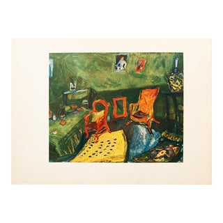 "1940s Marc Chagall, Original Period Swiss Lithograph ""My Studio"" For Sale"