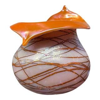 1910s Art Nouveau Pallme König Glass Vase For Sale